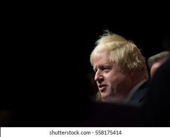 Boris Johnson giving a speech in London, United Kingdom, June 2016