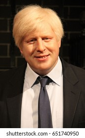 Boris johnson, London, UK - March 20, 2017: Boris Johnson political figure at museum London. British politician, popular historian and journalist. was Secretary of State, London Mayor and a MP