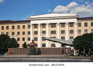 BORISOGLEBSK. POLAND. 09 JUNE 2016 : Monument to Valery Chkalov at aviation school in Borisoglebsk. Russia