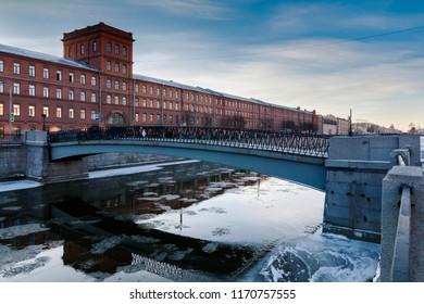 Borisov bridge, St. Peterburg, Russia