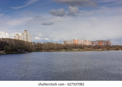 Borisov ponds in the Southern Administrative District of Moscow, in the district Orekhovo-Borisovo