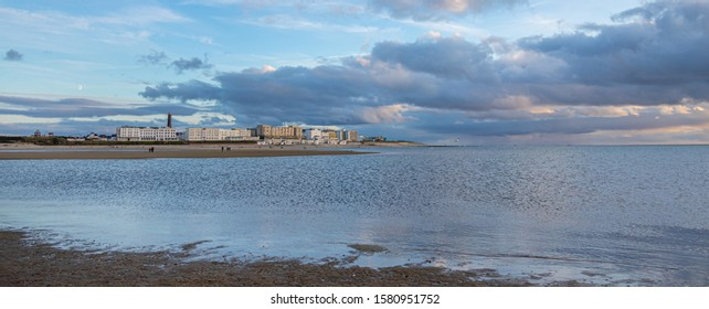 borkum cityscape with sand beach, travel germany Wattenmeer