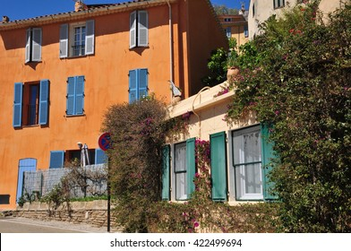 Bormes les Mimosas, France - april 18 2016 : the picturesque old village in spring