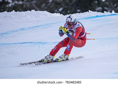 Bormio ( Italy )12/28/2017: pictures of the freeride ski world championship. The winner was the Italian Dominic Paris, second place Aksel Lund Svindal  from Norway as the third place Jansrud Kjetil