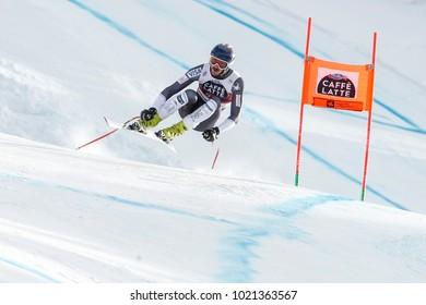 Bormio, Italy. December 28, 2017. FIS Ski World Cup 2017. Men's downhill. Bryce Bennett, USA.
