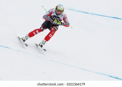 Bormio, Italy. December 28, 2017. FIS Ski World Cup 2017. Men's downhill. Manuel Osborne Paradis, Canada.