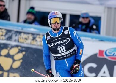 Bormio, Italy. December 29, 2017. FIS Ski World Cup 2017. Men's Alpine Combined. Dominik Paris, Italy.