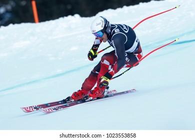 Bormio, Italy. December 29, 2017. FIS Ski World Cup 2017. Men's Alpine Combined. Natko Zrncic Dim, Croatia.