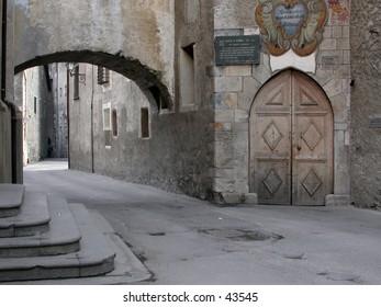 Bormio old town detail