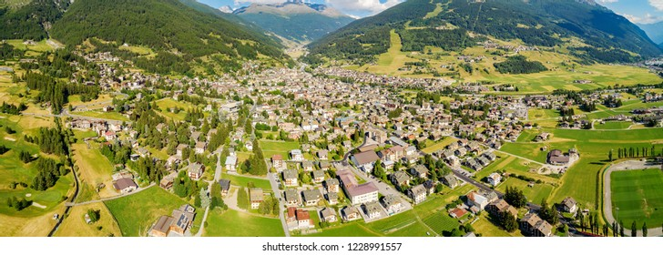 Bormio - Valtellina (IT) - Panoramic aerial view
