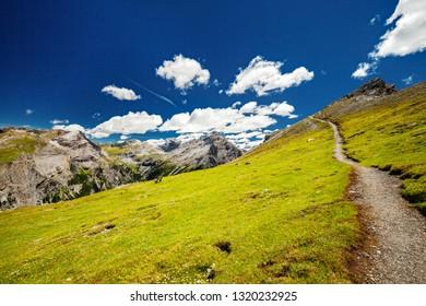 Bormio - Valtellina (IT) - View of the Valle del Braulio towards the Stelvio Pass from Monte Scale