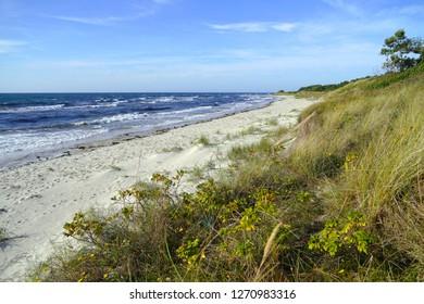 Bornholm beach on a sunny day