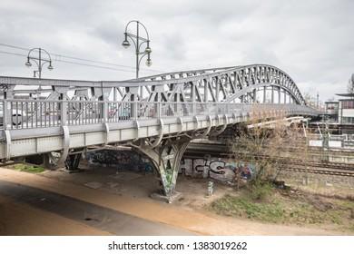 Bornholmer Strasse Bridge in Berlin - Shutterstock ID 1383019262