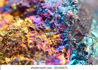 Bornite, also known as peacock ore, is a sulfide mineral with chemical composition Cu5FeS4 that crystallizes in the orthorhombic system. Macro