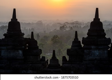 Borobudur, or Barabudur is a 9th-century Mahayana Buddhist temple in Central Java, Indonesia. It is the world's largest Buddhist temple.