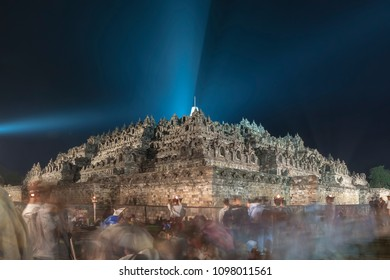 Borobudur at the Night of Vesak Celebration