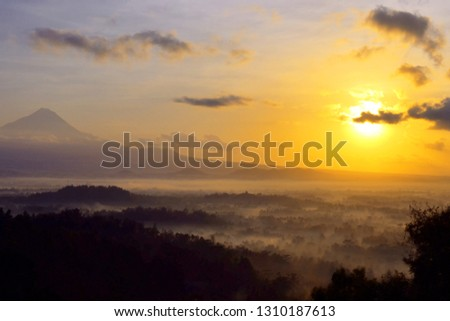 Borobudur nirvana sunrise form