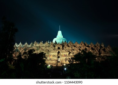 The Borobudur Temple, during Waisak Celebration on 29th May 2018. The Borobodur Temple is located in the Magelang district, Yogyakarta, Indonesia