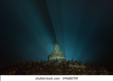 The Borobudur Temple, during Waisak Celebration on 15th May 2014. The Borobodur Temple is located in the Magelang district, Yogyakarta, Indonesia
