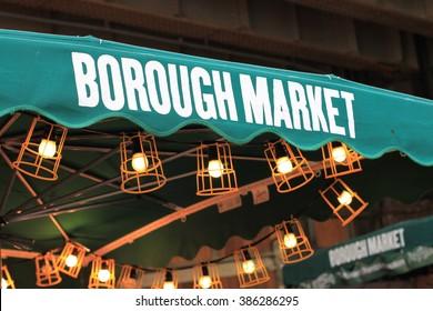 Borough market. Street food market. Outdoor.