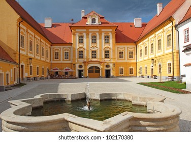 Borovany in the Ceske Budejovice region opened its renovated chateau in July 2010. Former Augustinian monastery with a huge building of the former prelature, then the castle. Bohemia, Czech Republic