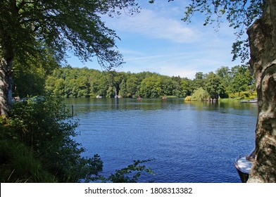 Borre lake which is a part of Silkeborg lakes in jutland on a sunny day