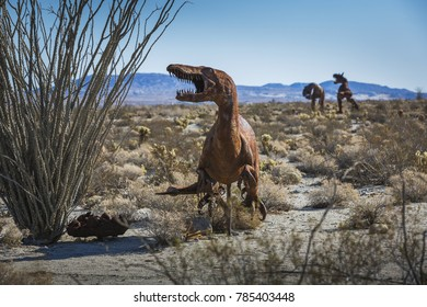 BORREGO SPRINGS, CA - NOV. 22: Artist Ricardo Breceda has created a collection of metal sculptures that dot the desert landscape of Southern California, in Borrego Springs, on November 22, 2016.