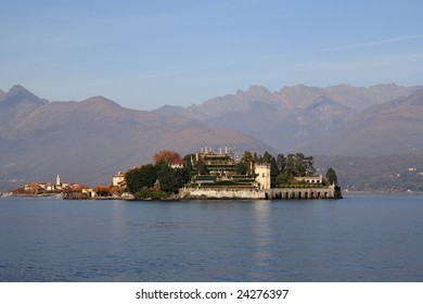 Borromeo Island on Maggiore Lake (Italy)