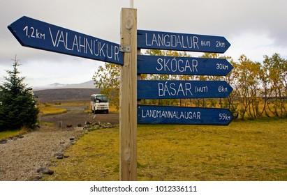 Borsmork Landmannalaugar Trail Signage Iceland