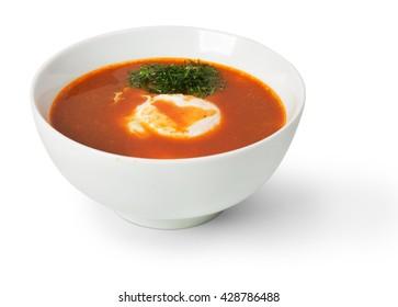 Borstch, borsh, Russian Ukrainian soup isolated