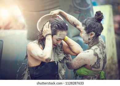 BORYONG KOREA - July 20 : Boryeong Mud Festival at Daecheon beach, South Korea on July 20,2014