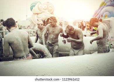 BORYONG KOREA - July 28 : Boryeong Mud Festival at Daecheon beach, South Korea on July 28,2013
