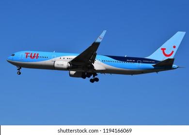 Boryspil International Airport / Ukraine - May, 26, 2018: TUI Airlines Netherlands Boeing 767-300 PH-OYI