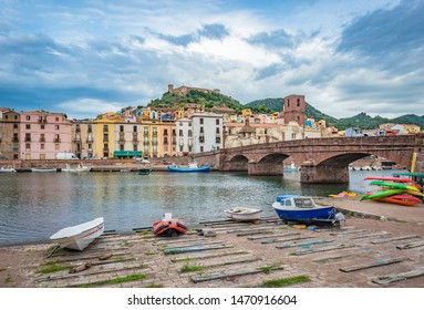Bosa, colourful town in Oristano province, Sardinia, Italy.