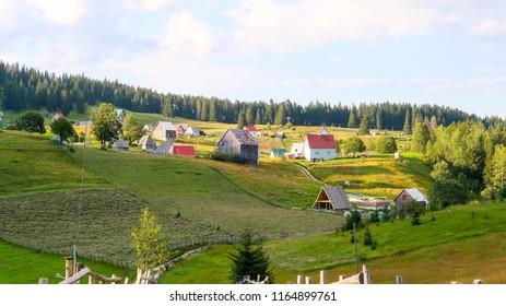 Bosaca Village on Durmitor Mountain in Montenegro