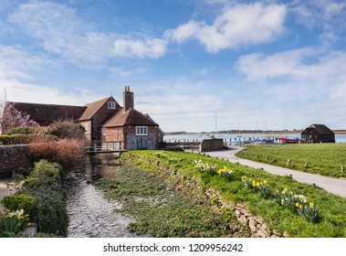 Bosham Harbour, West Sussex, England, UK, On a bright and sunny spring morning.