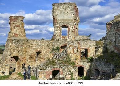 Boskovice, Czech Republic - September 28, 2013: Ruin of a 13th-century Gothic castle Boskovice  in southern Moravia, Czech Republic.