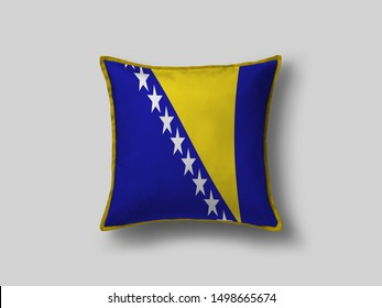 Bosnia Flag Pillow & Cusion Cover. Bosnia cushion cover. Flag Pillow Cover with Bosnia Flag