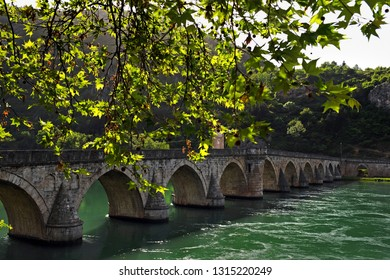 Višegrad/ Bosnia and Herzegovina: Bridge over the river Drina