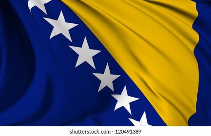 Bosnia and Herzegovina flag HI-RES collection