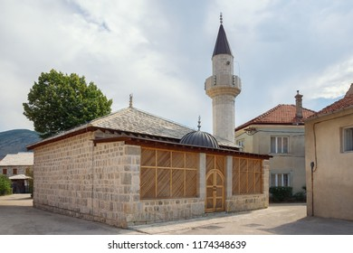 Bosnia and Herzegovina. View of Sultan Ahmed Mosque in Old Town of Trebinje