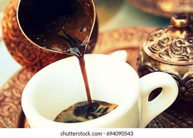 Bosnian coffee in Mostar Bosnia and Herzegovina