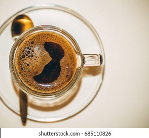Bosnian Traditional  coffee in modern glass