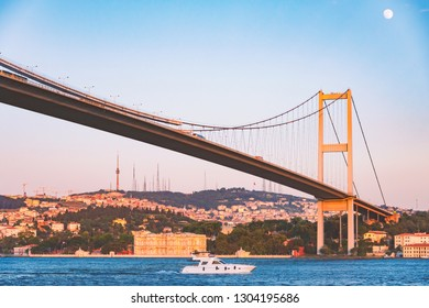 The Bosphorus Bridge known officially as the 15 July Martyrs Bridge is one of the three suspension bridges spanning the Bosphorus strait in Istanbul, Turkey.