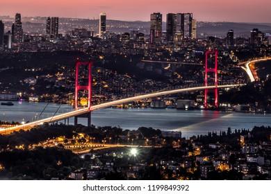Bosphorus Bridge long exposure. Istanbul, Turkey.