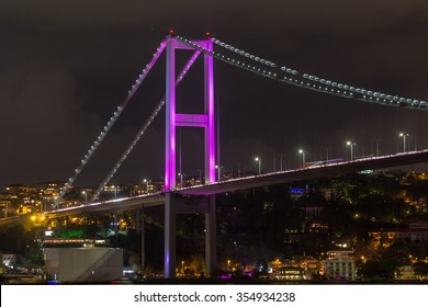Bosphorus at night from Istanbul, Turkey