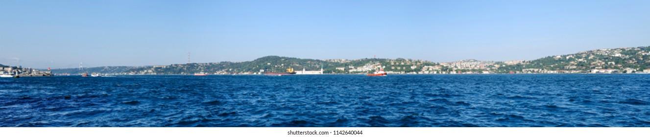 Bosphorus panoramic view. Istanbul panorama