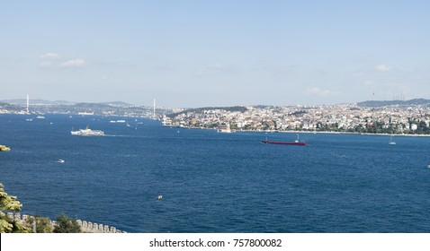 The Bosphorus. The strait that connects the Black Sea to the Sea of Marmara and marks the southern boundary between the European and the Asian continent.