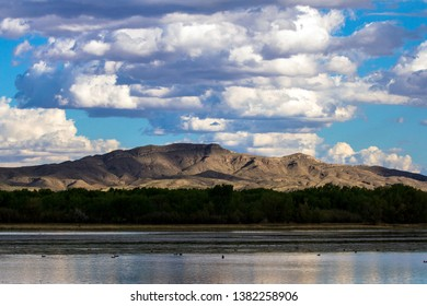 Bosque del Apache National Wildlife Refuge offers great views of mountains, sky, and water