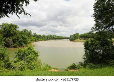Bosque river meets the Brazos River in Waco Texas